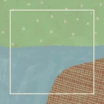 Rechteckrahmen auf abstraktem landschaftshintergrund