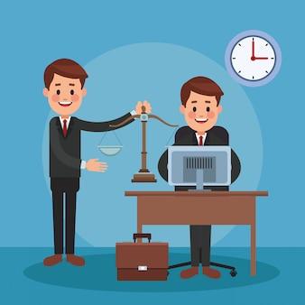 Rechtsanwälte, die im büro arbeiten