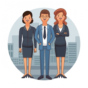 Rechtsanwälte team cartoon