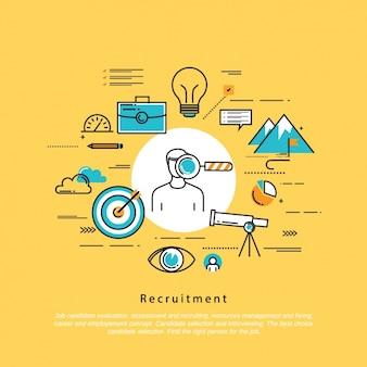 Recruitment hintergrund-design