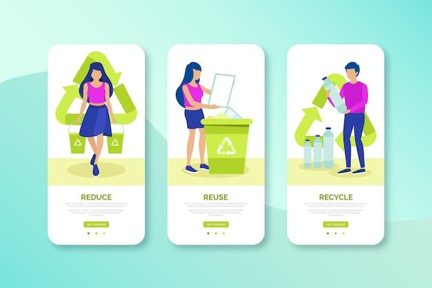 Recyceln sie das design der mobilen benutzeroberfläche