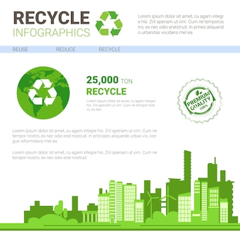 Recycle infografik