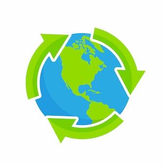 Recycling der natürlichen umwelt