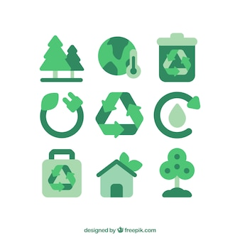 Recycling-symbol vektoren