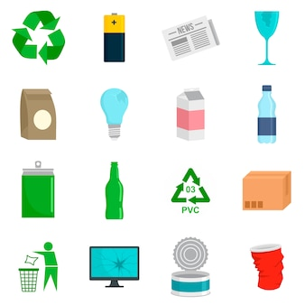 Recycling-tag-icon-set