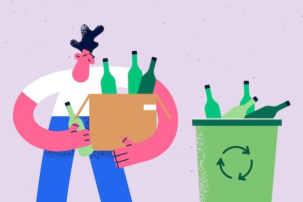 Recycling von müll und müllkonzept