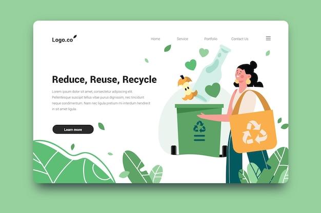 Recycling-zielseiten-webvorlage