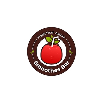 Red apple fruchtsaft bar logo