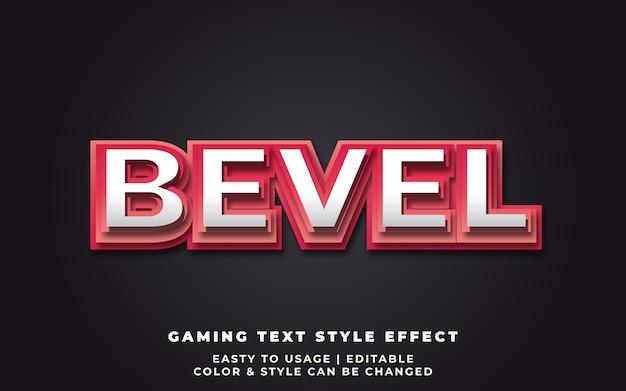 Red bold bevel text style-effekt