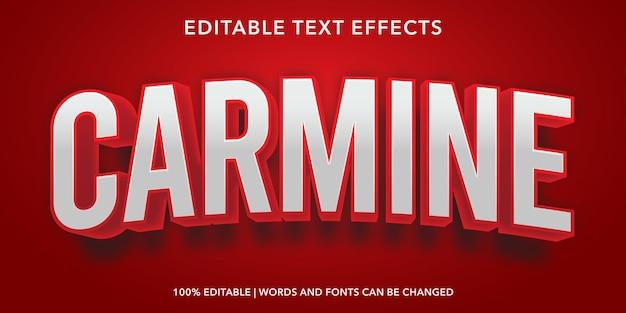 Red carmine editable text effect
