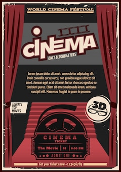 Red carpet cinema poster