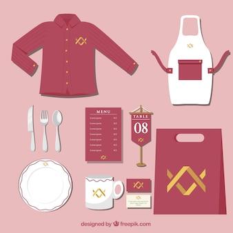 Red corporate identity für ein restaurant