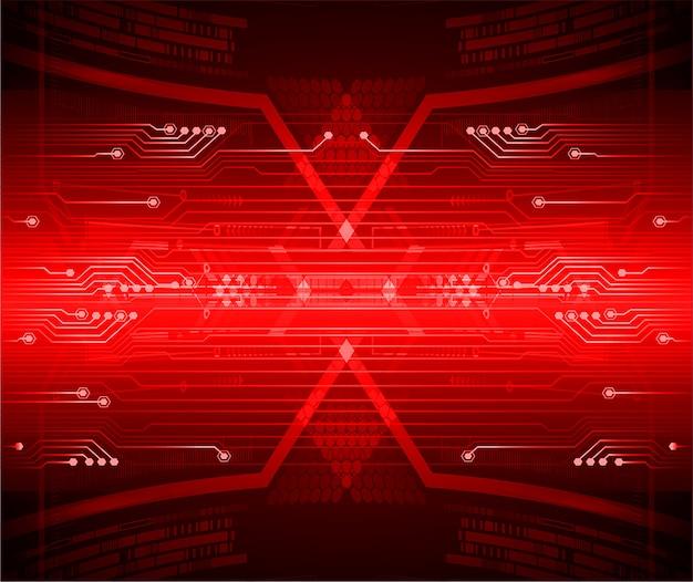 Red cyber circuit zukunftstechnologie hintergrund