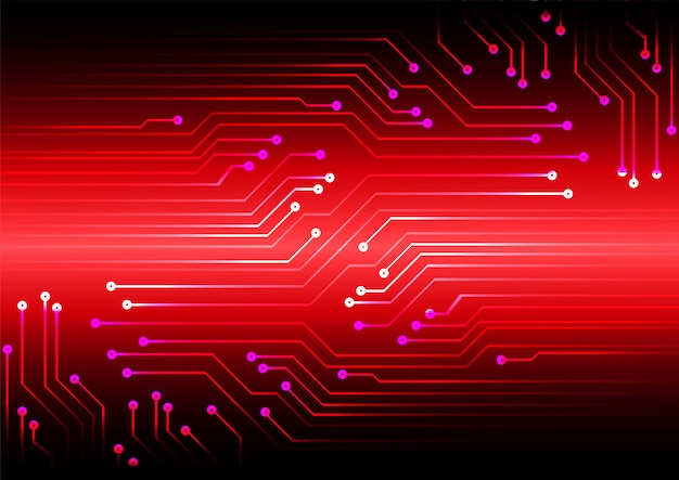 Red cyber circuit zukunftstechnologie konzept hintergrund