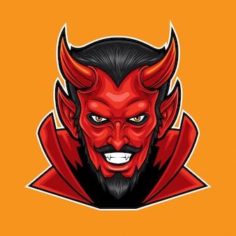 Red devil kopf maskottchen