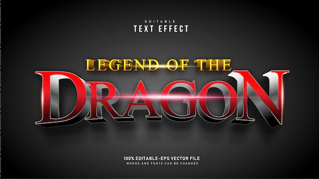 Red dragon text effekt
