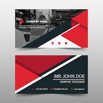 Red dreieck abstrakte banner vorlage design