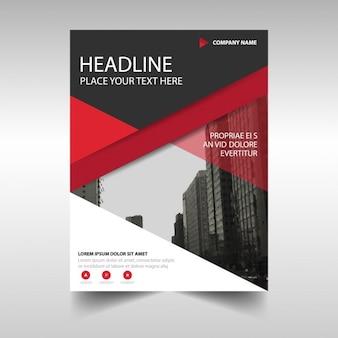 Red geometrische corporate broschüre vorlage