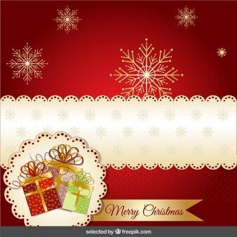 Red moderne weihnachtskarte
