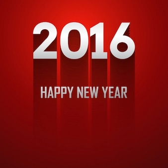 Red neujahr 2016-karte