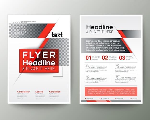 Red poster broschüre flyer design layout vorlage