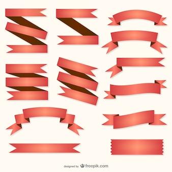 Red retro bändern sammlung