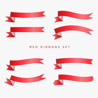 Red ribbon banner bühnenbild