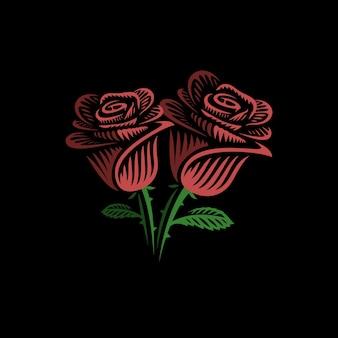 Red roses logo