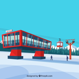 Red ski station design