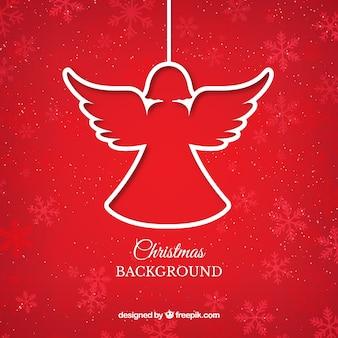 Red weihnachtsengel hintergrund