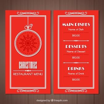 Red weihnachtsmenü