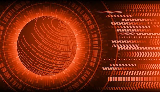 Red world cyber circuit zukunftstechnologie