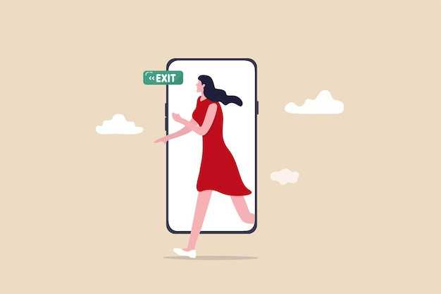 Reduzieren sie die bildschirmzeit für mobilgeräte