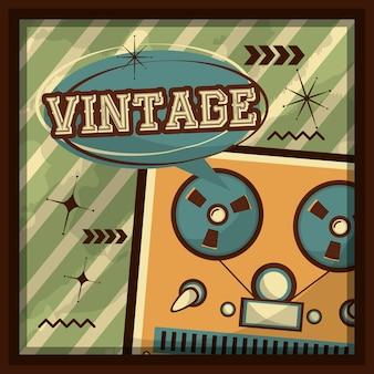 Reel-to-reel-band audio-sprechblase retro-vintage