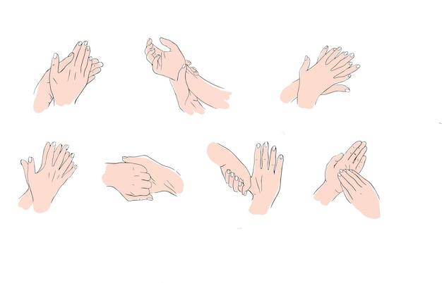 Regeln für desinfektion und händewaschen