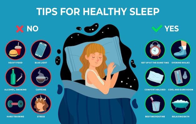 Regeln für einen gesunden schlaf.