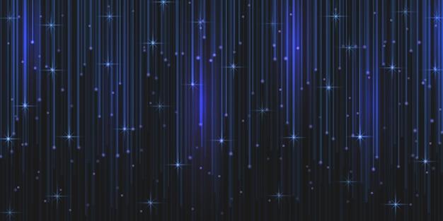 Regen sie glitzerpartikel mit fallenden magischen lichtfunken.