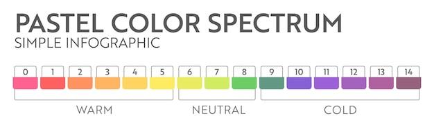 Regenbogen abstrakte geschäftsinfografik. mehrfarbiges diagramm mit 15 bedingungen.