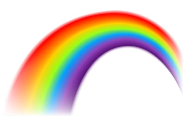 Regenbogen auf getrenntem hintergrund