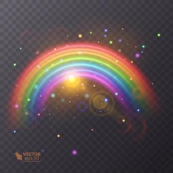 Regenbogen auf transparent.