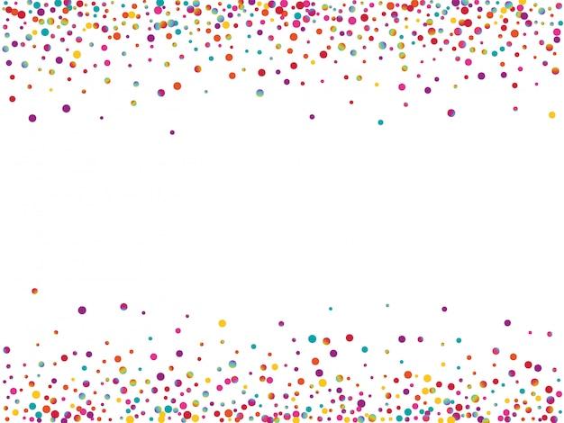 Regenbogen, der runde einladung fliegt. färben sie carnaval dot texture