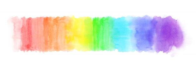 Regenbogen farbverlauf aquarell striche Premium Vektoren