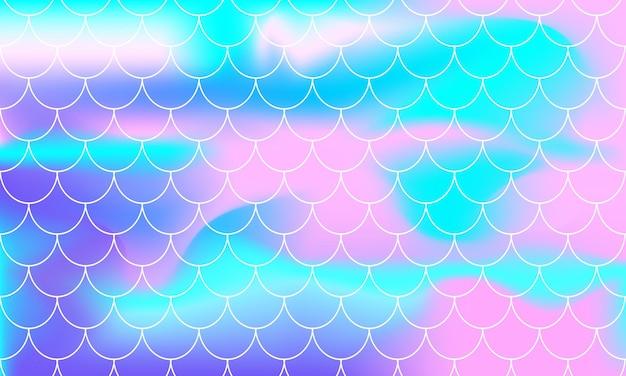 Regenbogen-hintergrund. meerjungfrau-skalen. holographischer druck.