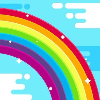 Regenbogen im flachen design
