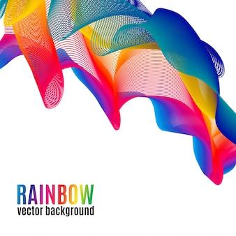 Regenbogen linien vektor hintergrund