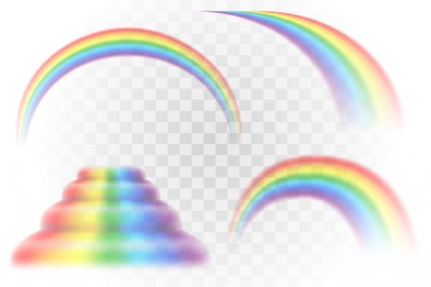 Regenbogen mehrfarbige realistische illustration