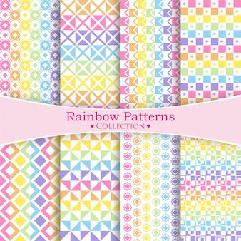 Regenbogen-muster-sammlung