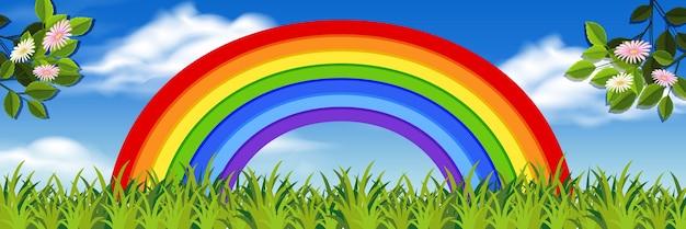 Regenbogen natur hintergrund
