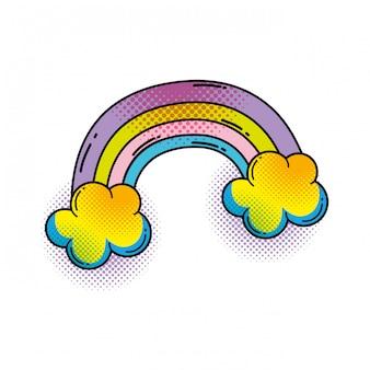 Regenbogen-Pop-Art-Stil