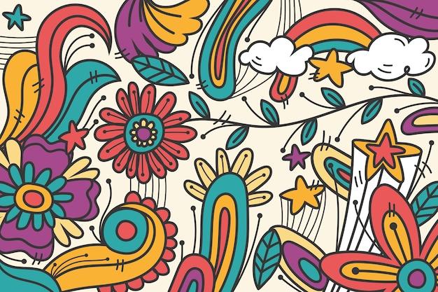 Regenbogen psychedelischer grooviger hintergrund